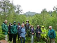 Walkers-First group to test out the newly laid footpath through Dr Danny Gordon's Widdy.jpg